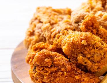 Fried chicken serving