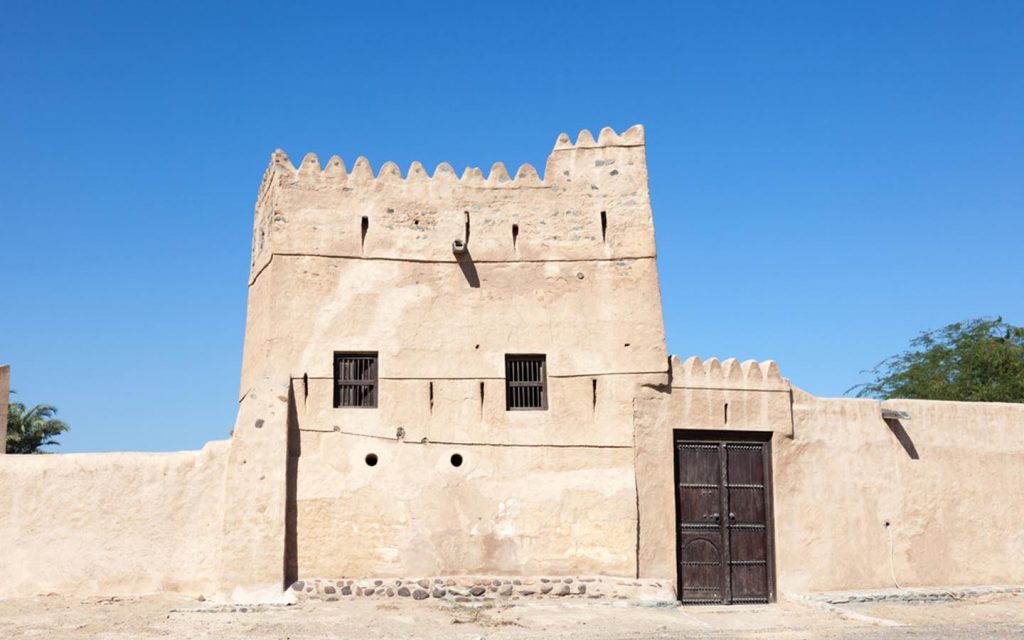 A double story house in Fujairah Heritage Village