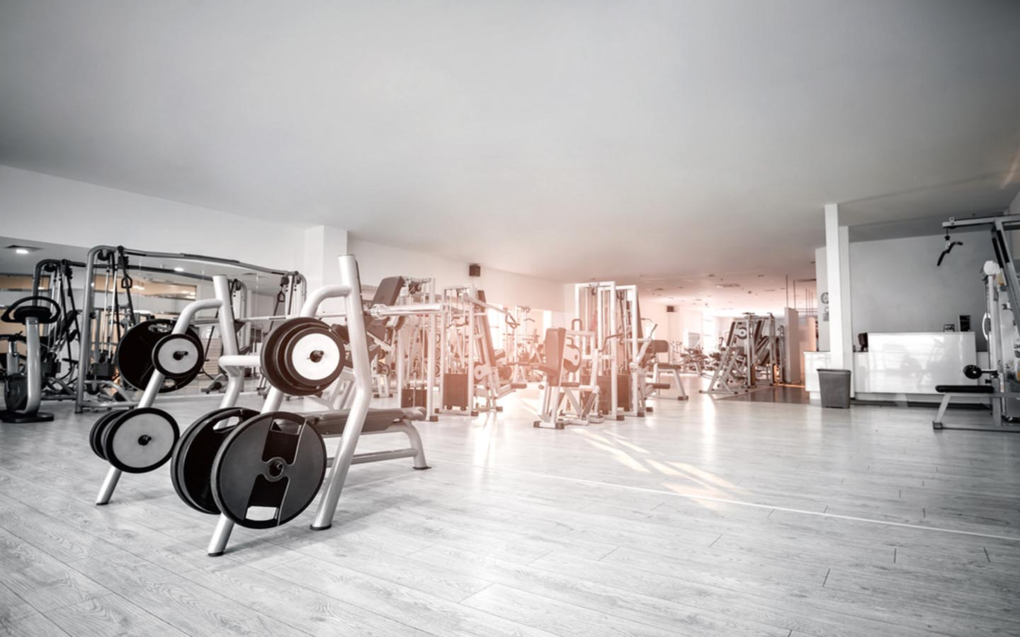 Inside view of a gym in Barsha