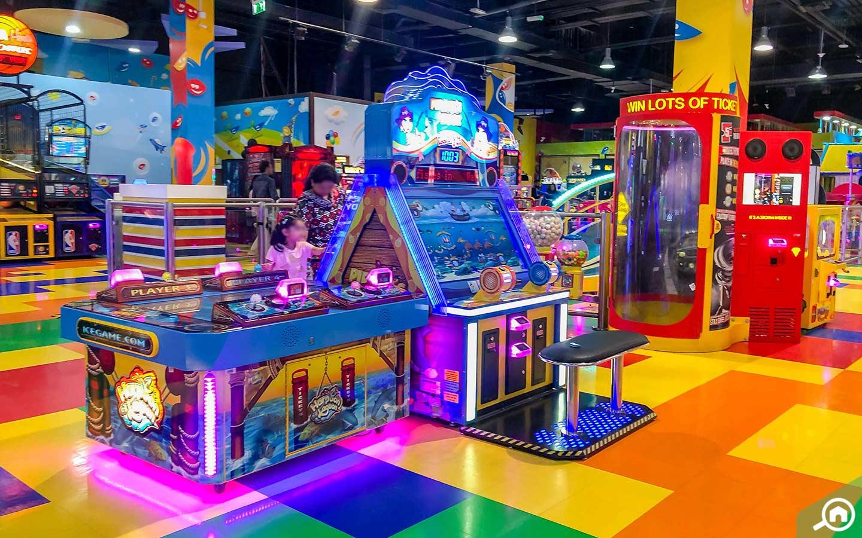 View of games at Fun City Ibn Battuta Mall