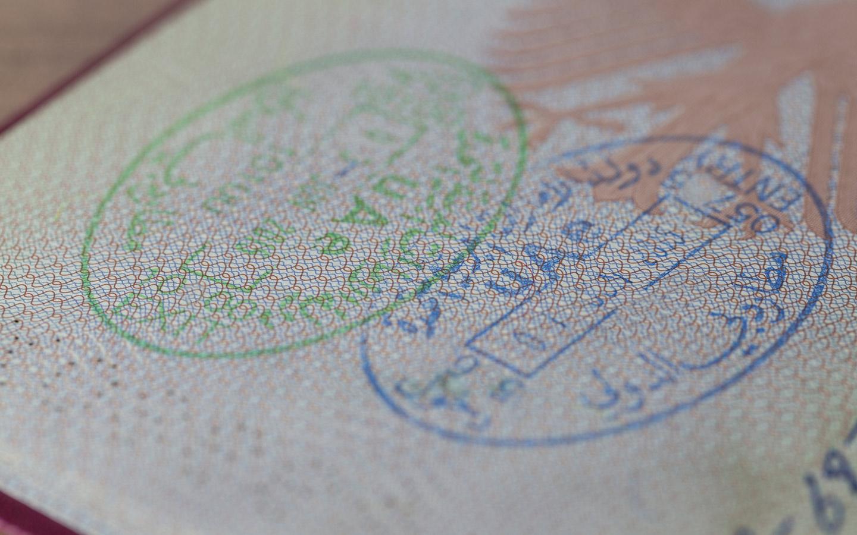 UAE visa cancellation stamp