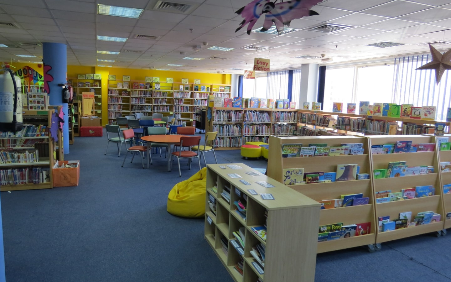 Library at one of GEMS World Academy, one of the best schools in Abu Dhabi