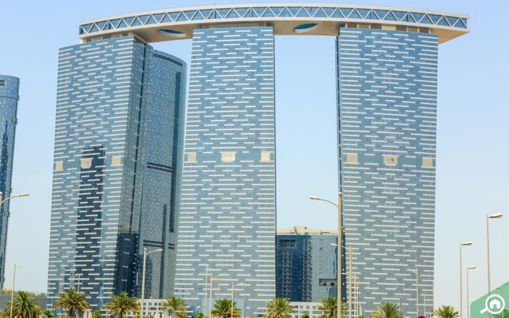 The Gate Towers in Abu Dhabi