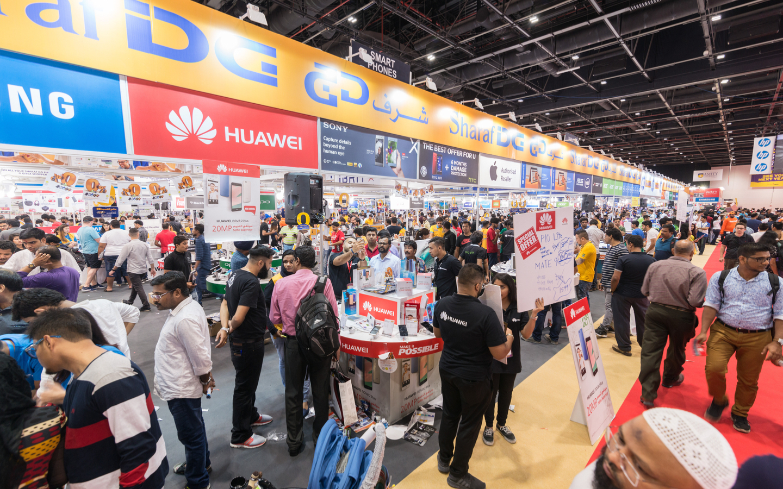 The various stalls at GITEX Dubai Shopper
