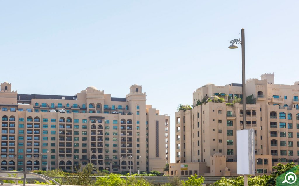 Golden Mile buildings in Palm Jumeirah