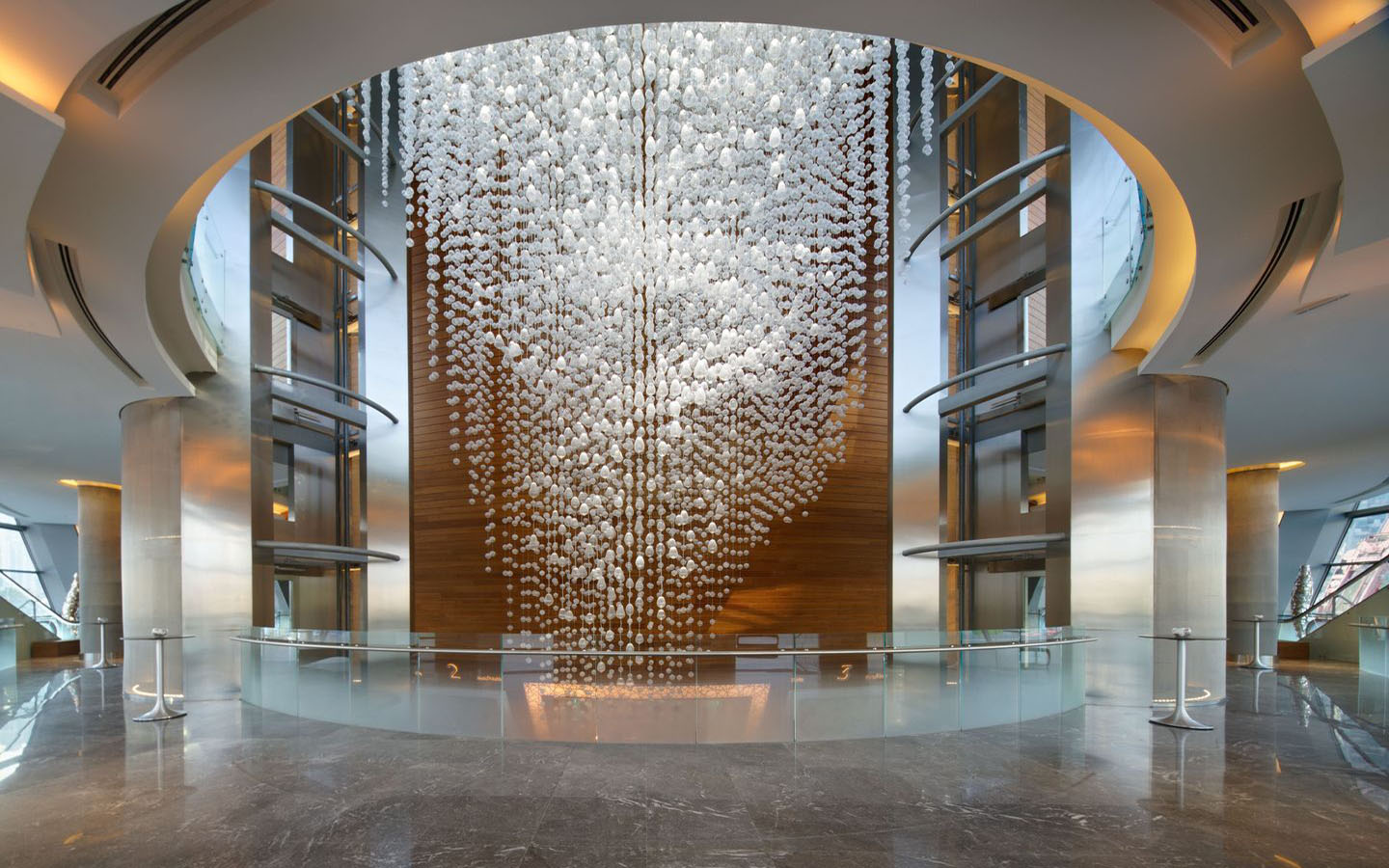 The Gorgeous Chandelier at the Dubai Opera built by LASVIT