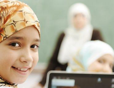 female students at a government school in Dubai