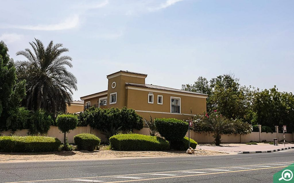 Villa in Green Community, one of the best places for villas for rent in Dubai Investment Park