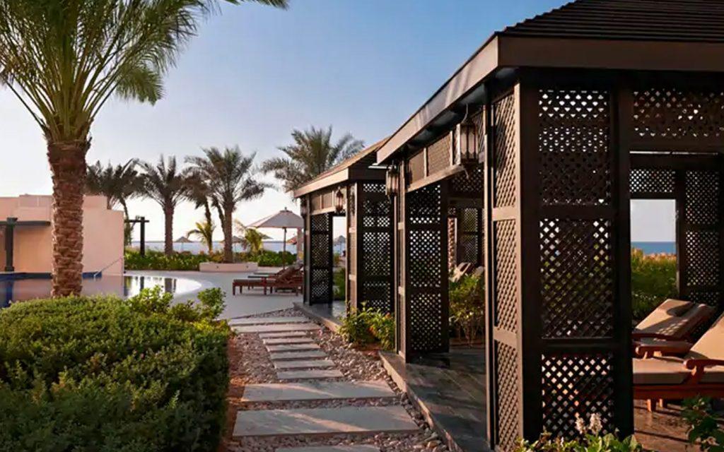 Poolside canabas at WA beachresort in Ras Al Khaimah