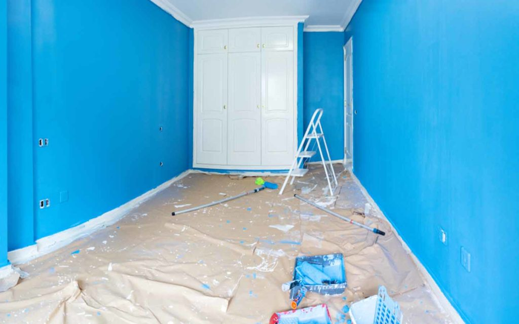A room being painted