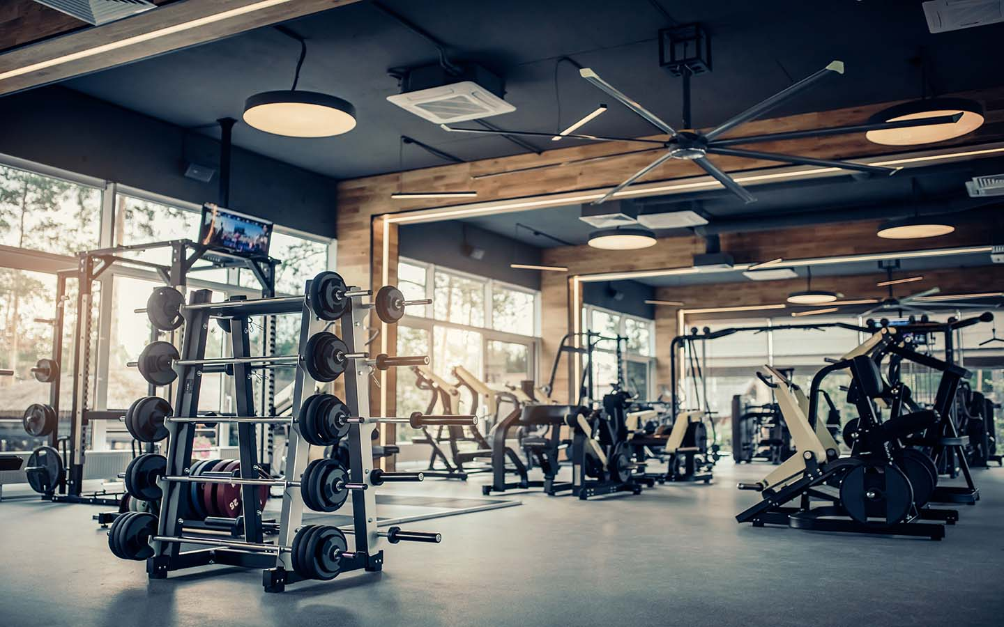 Interior of one of the Gyms in Dubai Silicon Oasis