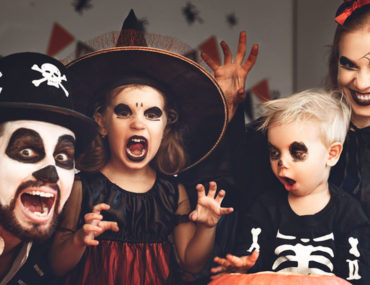 Family dressed up in outfits purchased from best Halloween costume stores in Dubai