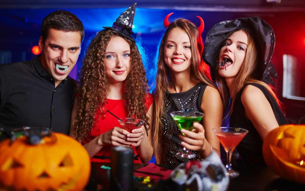 Friends gathered at a Halloween party in Abu Dhabi 2020