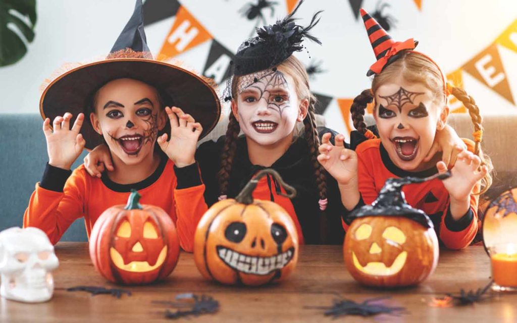 Kids dressed up for Abu Dhabi Halloween Party