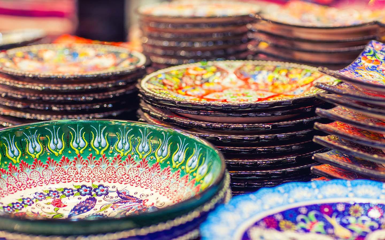 hand painted ceramic plates