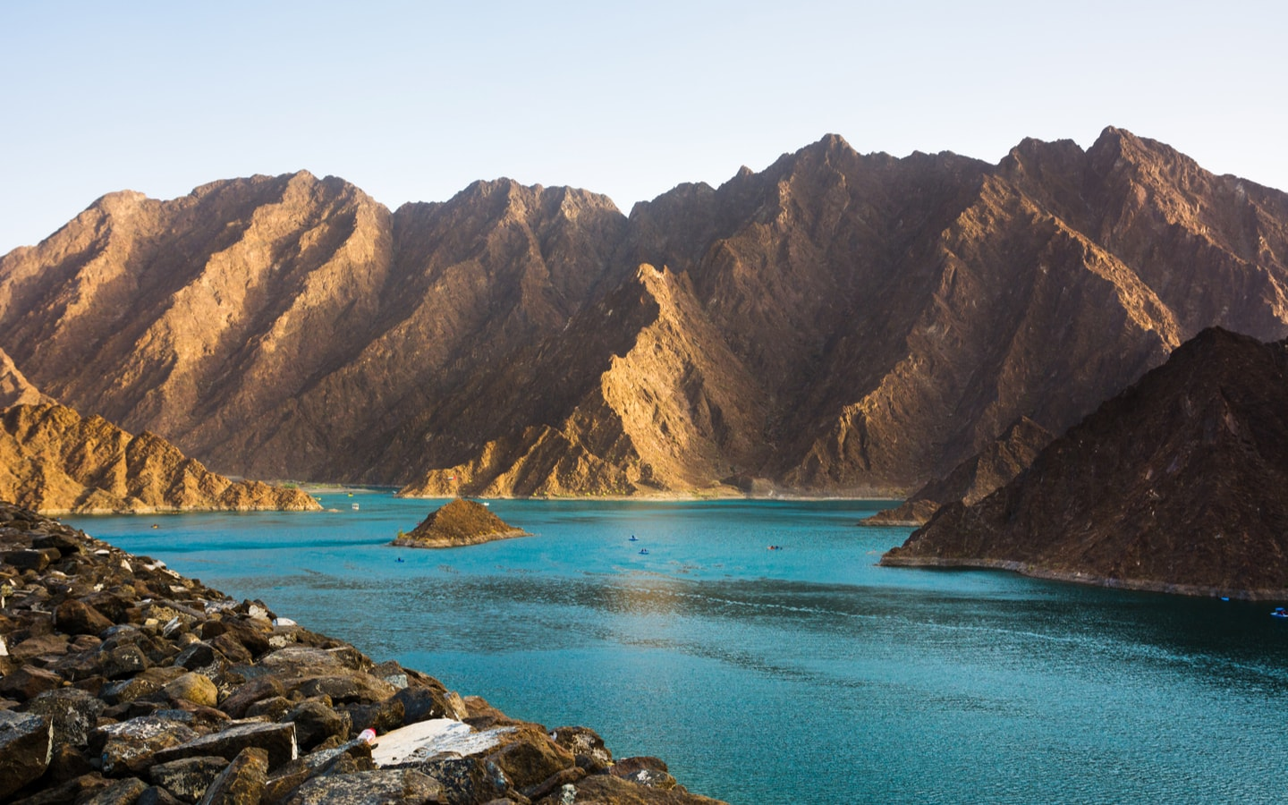 Hatta Dam near Hatta Fort Hotel in Dubai