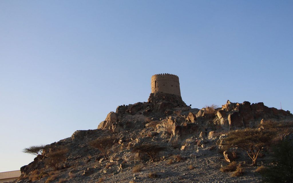 View of a watch tower at Hatta Heritage Village