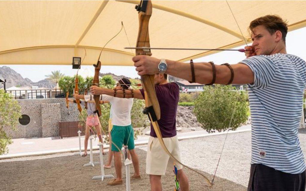 Adult archers in Dubai