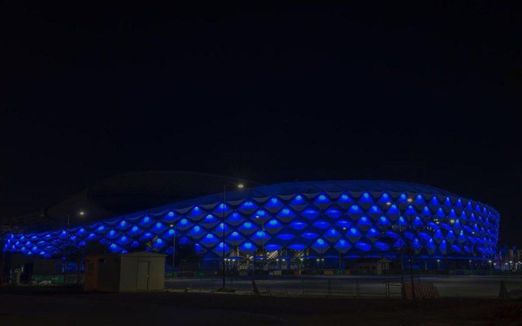 Hazza bin Zayed Stadium exterior
