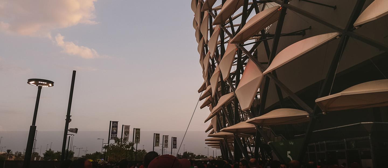 Hazza Bin Zayed Stadium facade