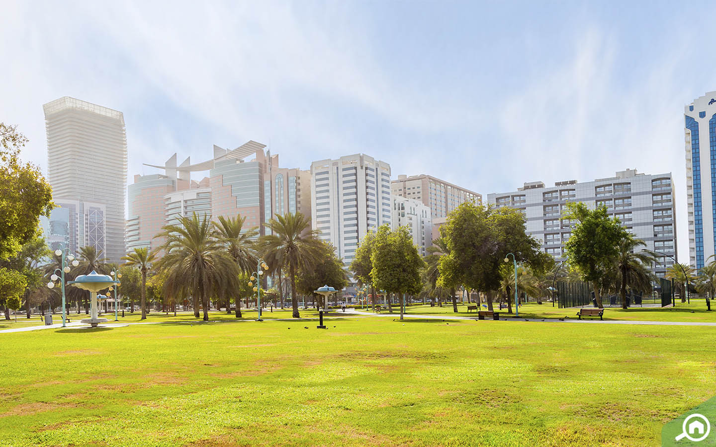 View from Heritage Park in Abu Dhabi