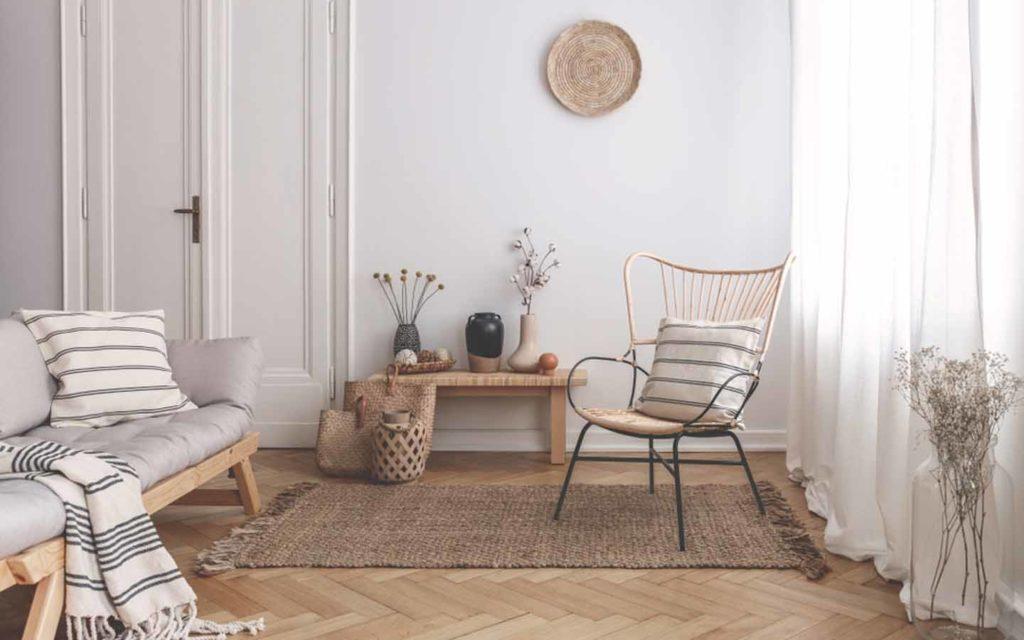غرفة بألوان ترابية