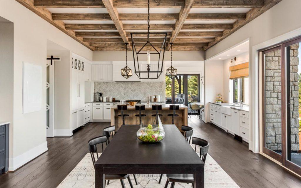 ديكور سقف خشب