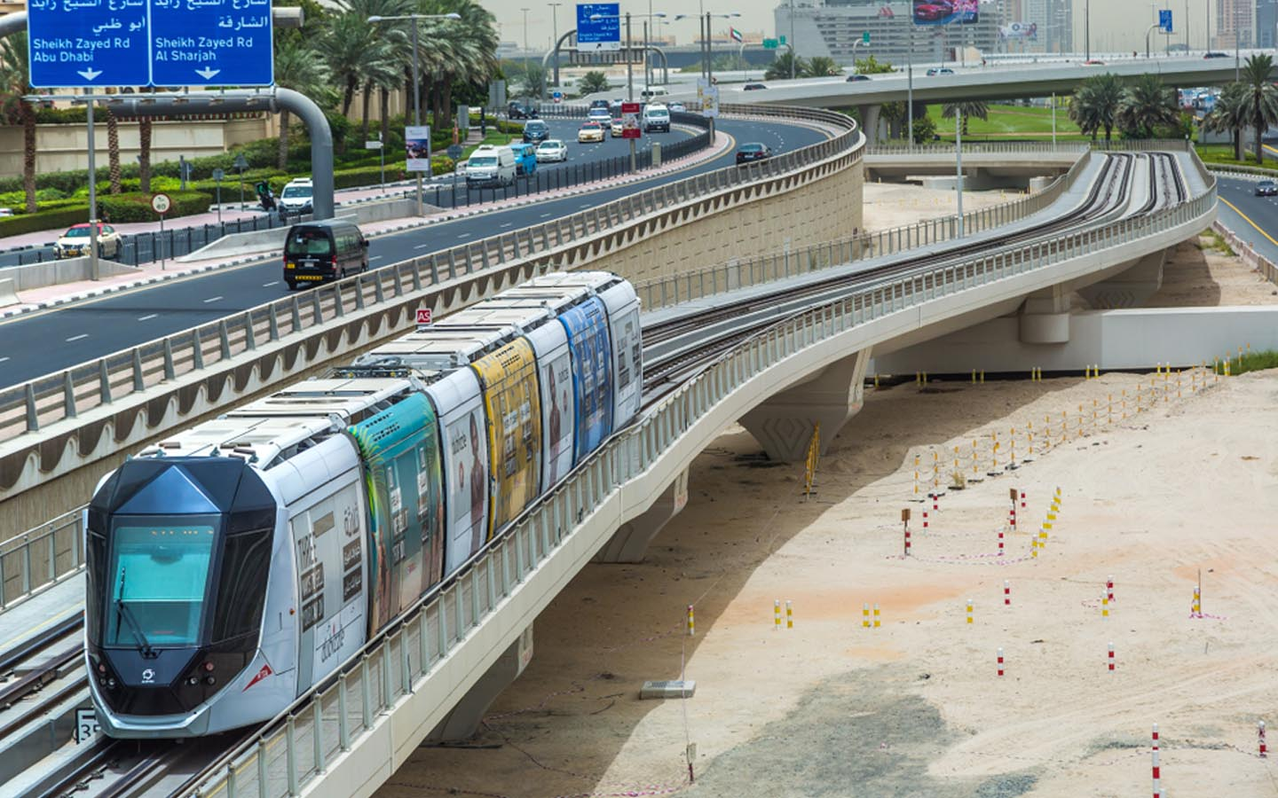 Dubai metro and tram systems