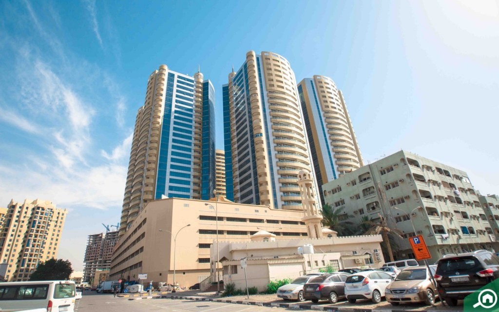 View of Horizon Tower which has studios for sale in Ajman under AED 200k