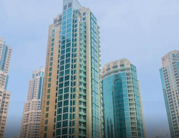 View of residential buildings in Downtown Dubai