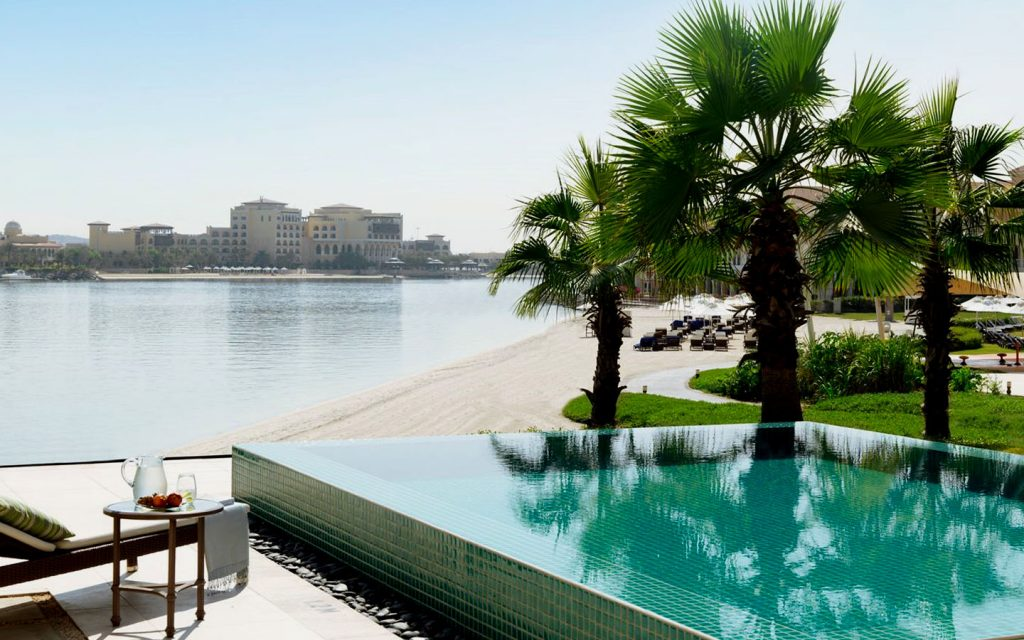 private pool in Ritz Carlton Abu Dhabi
