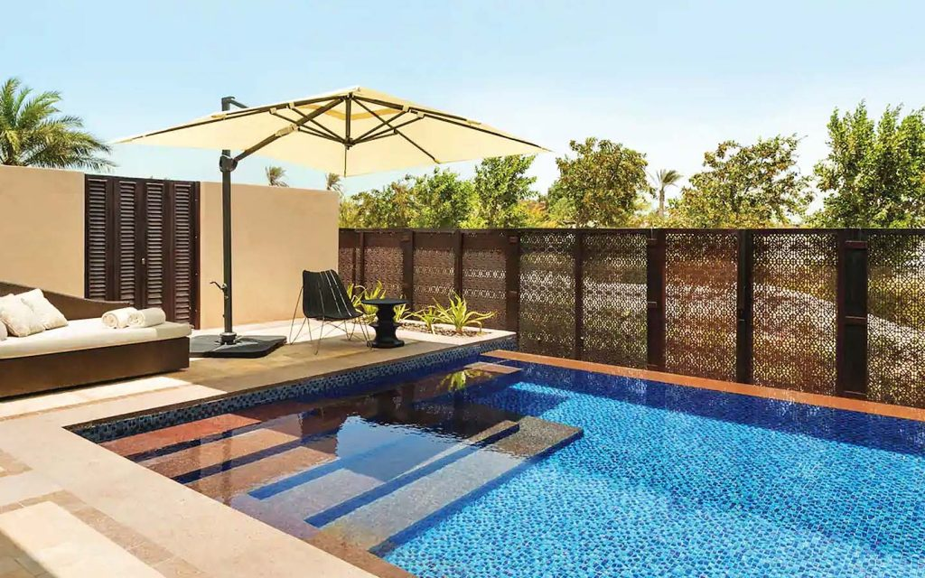 private swimming pool in Park Hyatt Abu Dhabi