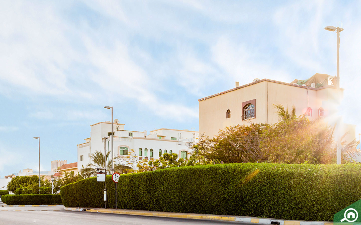 Street view of properties for rent in Abu Dhabi