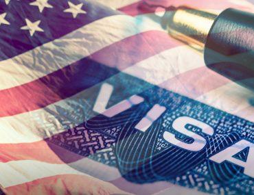 US visa concept