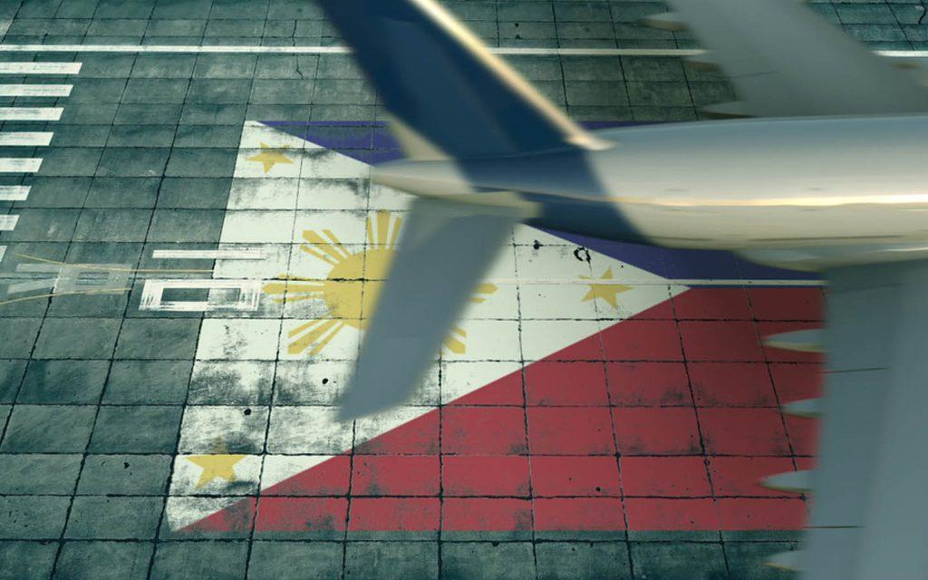 A Filipino plane taking off