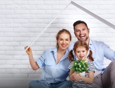 family with home safety concept