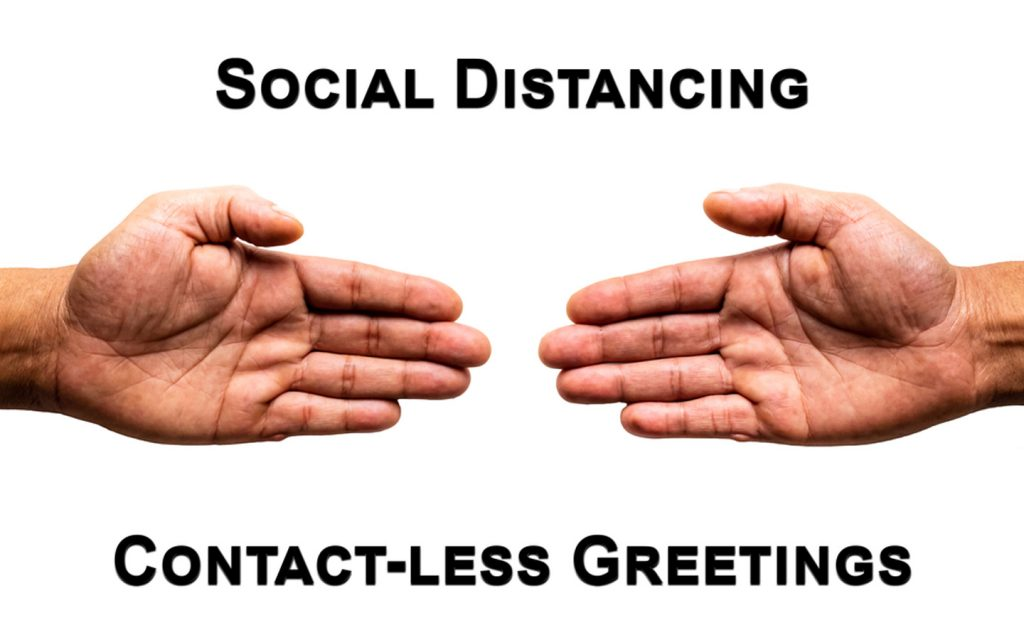 Graphic teaching social distancing which can be part of parent's coronavirus awareness session