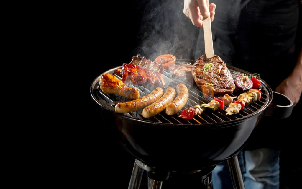 BBQ on a compact grill
