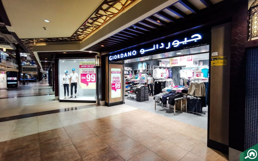 Giordano outlet at Al Hamra Mall