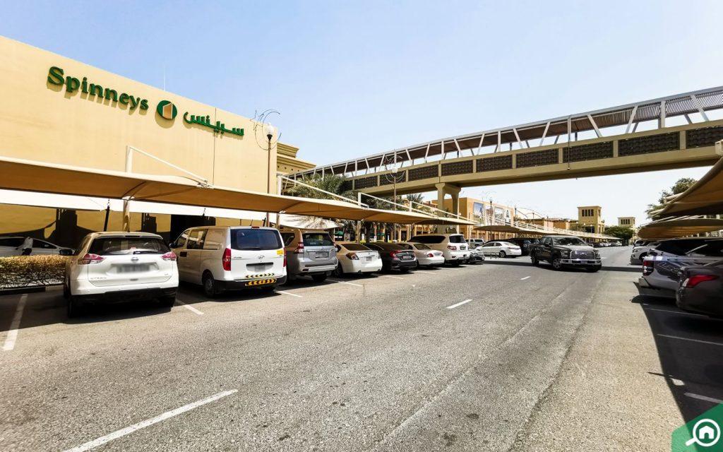 Cars parked at Al Hamra Mall
