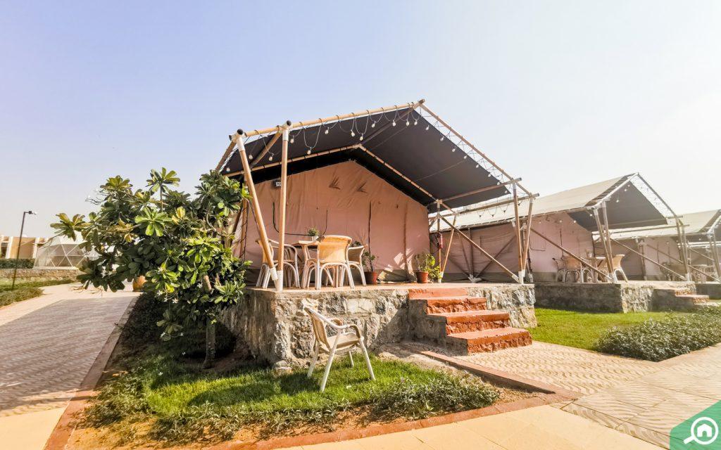 safari suite tent at longbeach campground