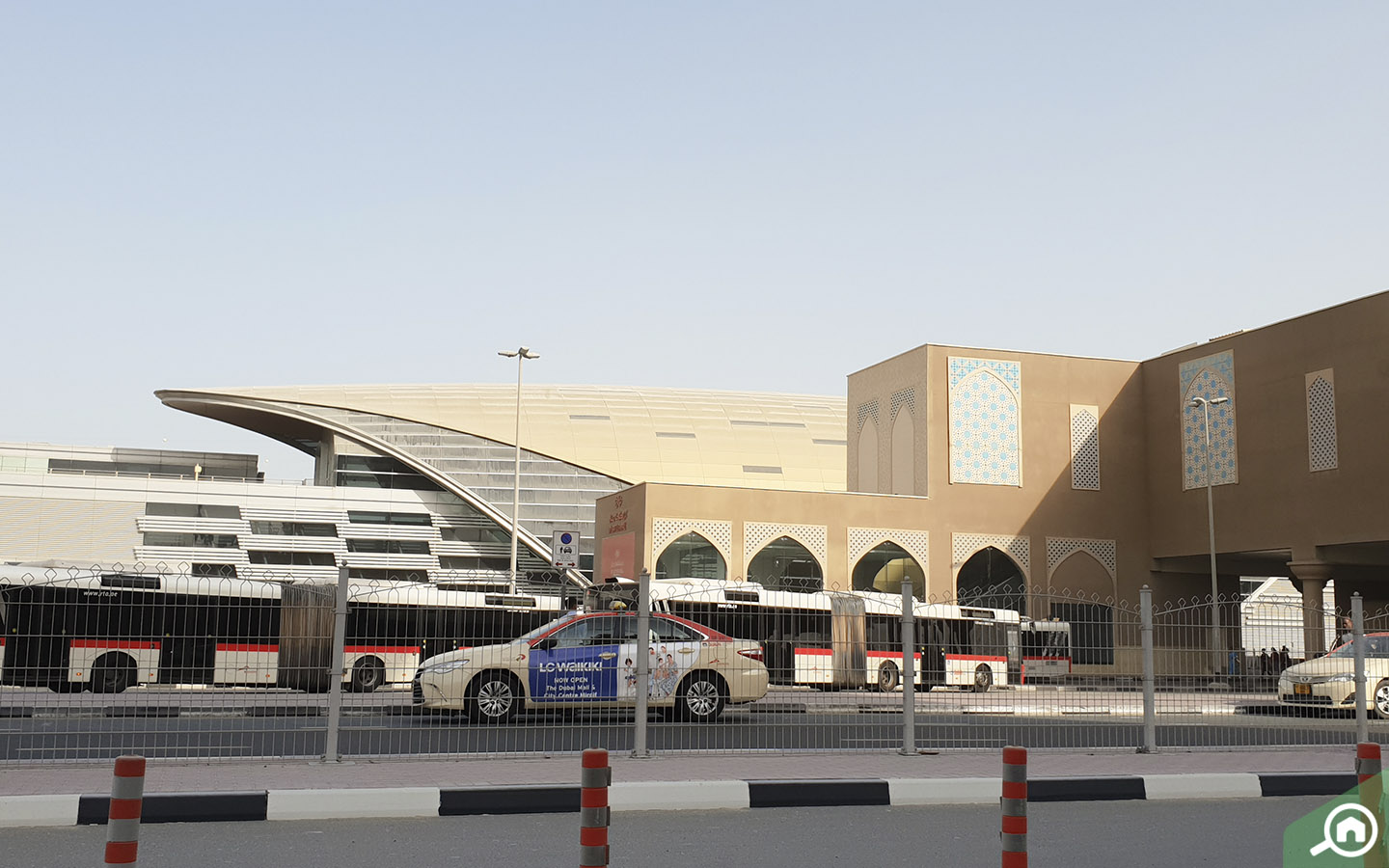 View of Ibn Battuta Mall Metro Station and RTA Buses