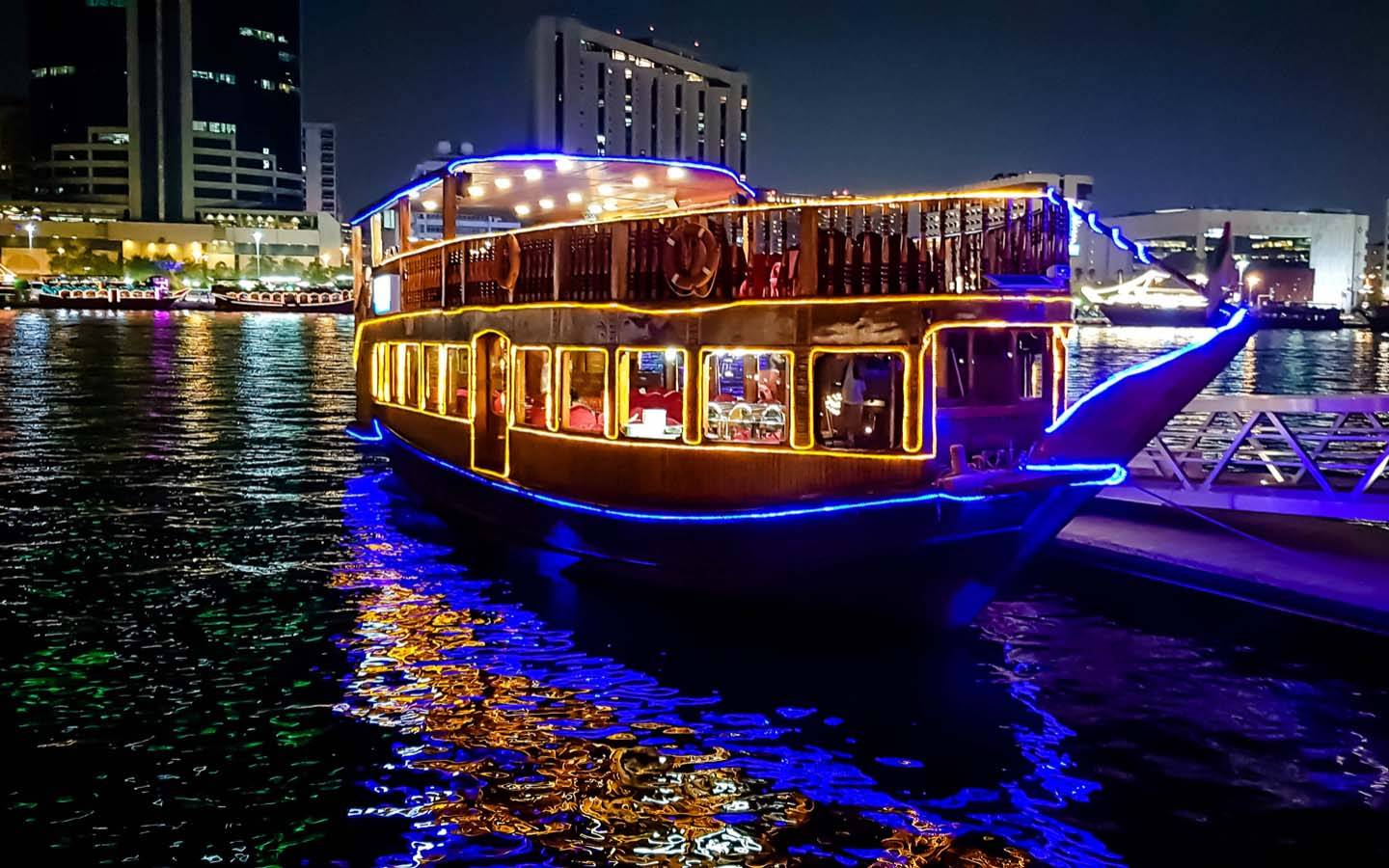 Dhow near Creek Park Dubai