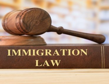 A book of immigration law and a gavel