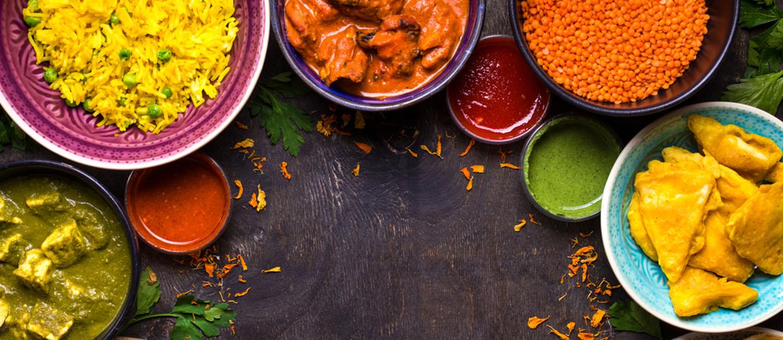 أطعمة هندية متنوعة