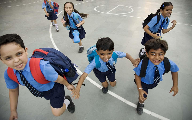 Indian school kids