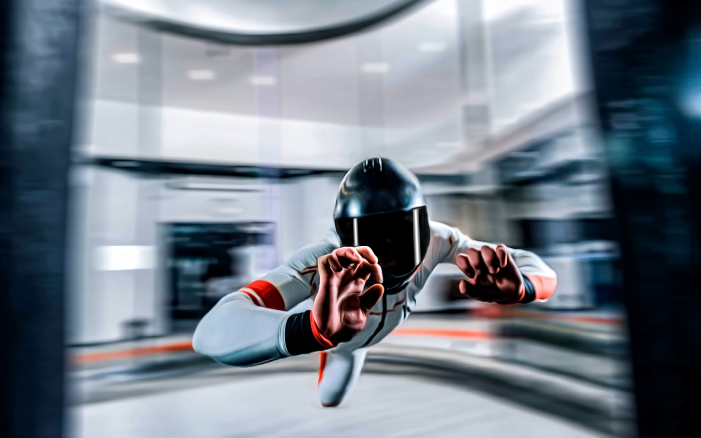 Indoor skydiving activity at CLYMB Yas Island