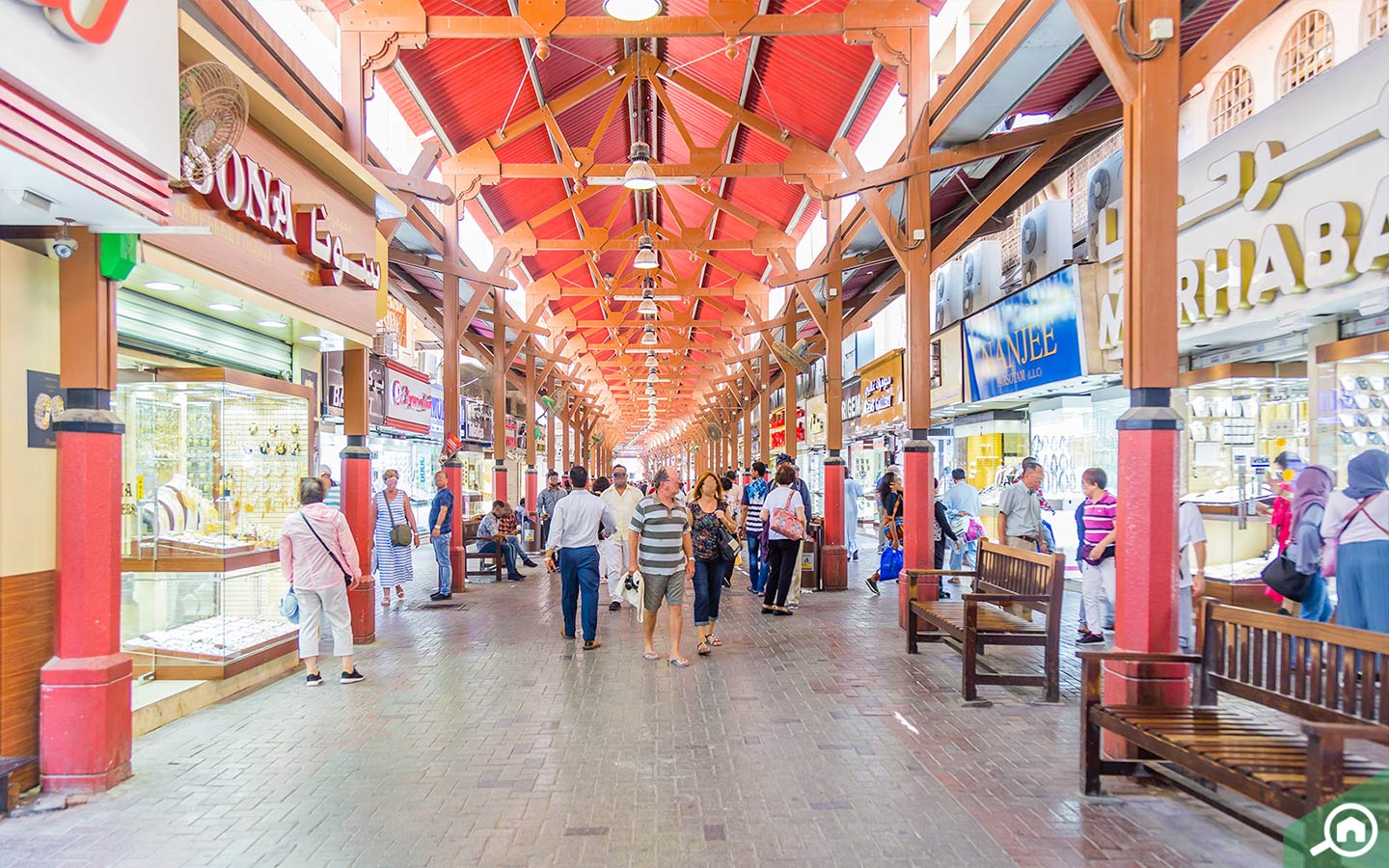Inside view of Gold Souk