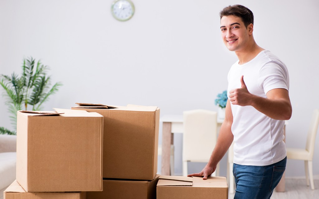Man looking happy with Dubai home movers and packers