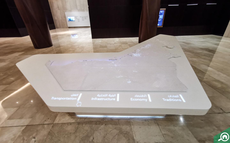 Interactive Map of the UAE at this Dubai Museum